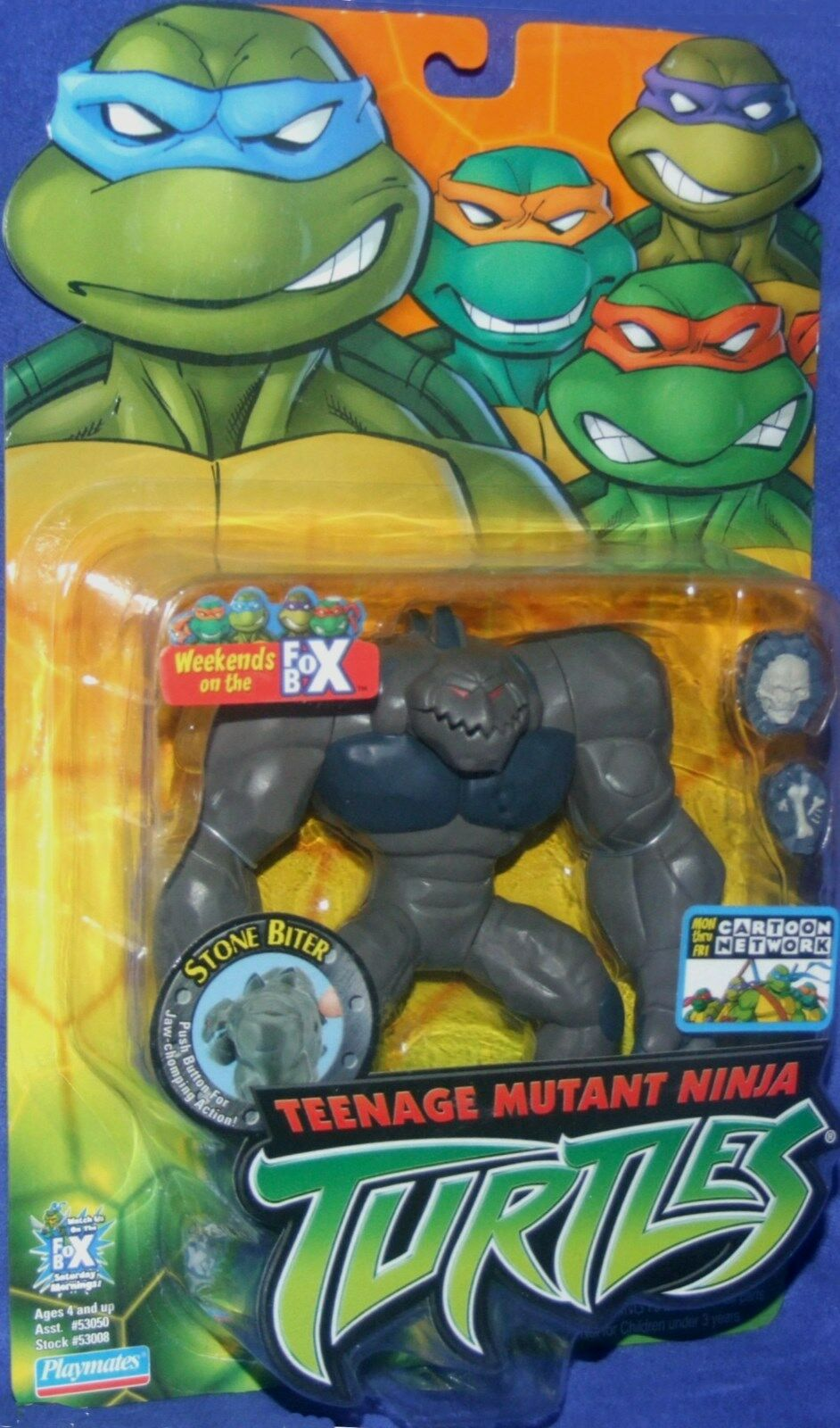Teenage Mutant Ninja Turtles 5  Stone Biter New Factory Sealed Playmate 2004