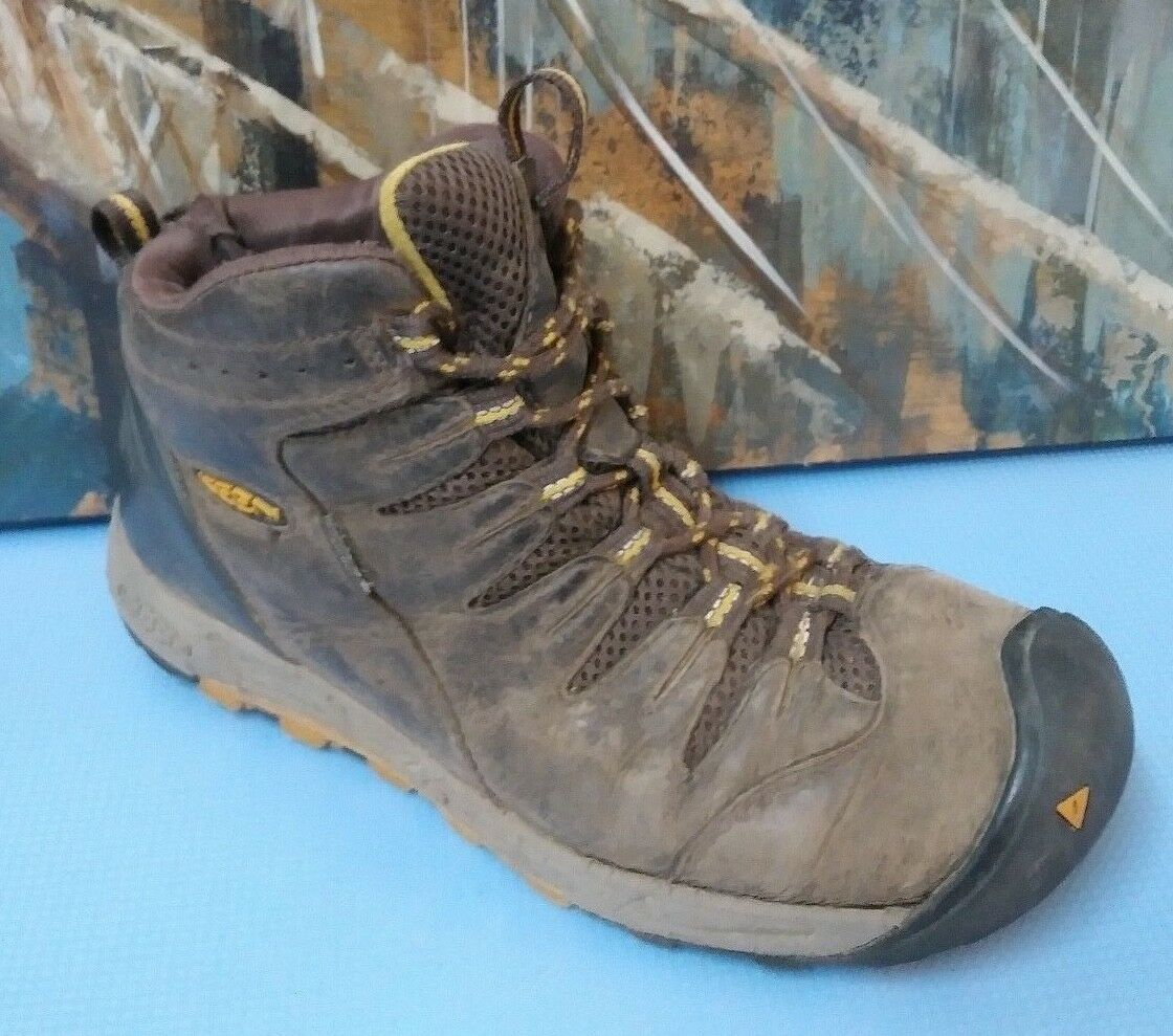 KEEN Mens Leather Ankle Boots Sz 8 US 40.5 EUR Brown Boots
