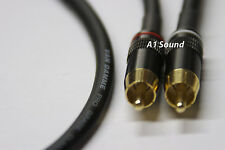 Van Damme Black Ultra 1 Metre Pair interconnect Cables RCA To RCA (Phono) NEW