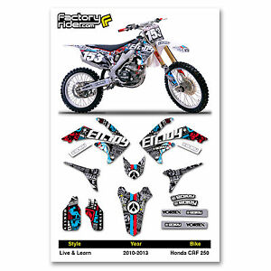 Details about 2010 - 2013 HONDA CRF 250 Dirt Bike Graphics kit Motocross  Graphics Live & Learn
