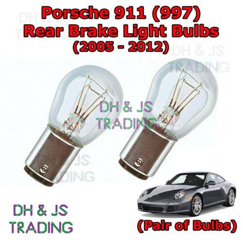 Tail Light Bulb 997 Porsche 911 Rear Brake Light Bulbs Pair of Stop 05-12