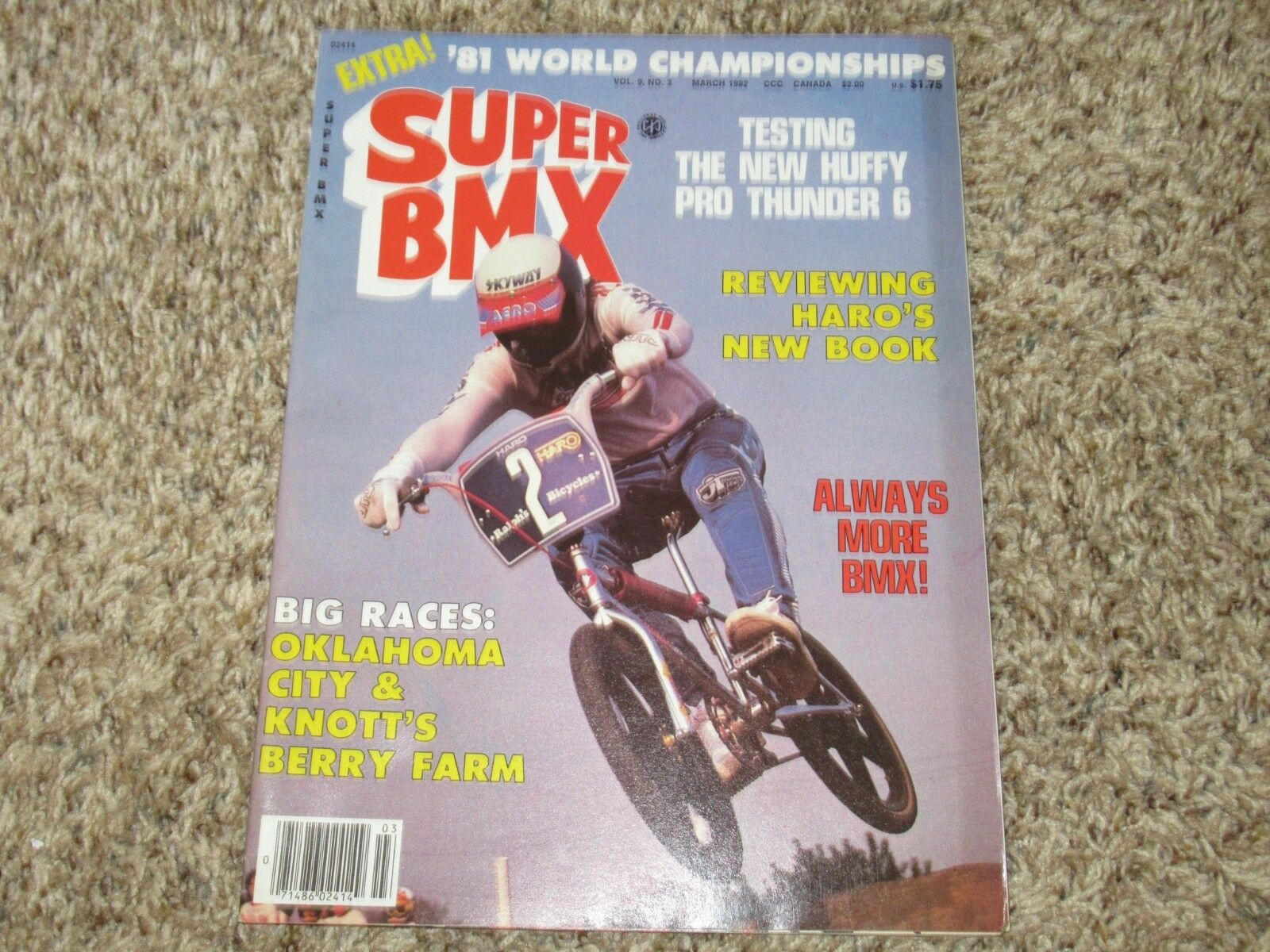 Super BMX magazine March 1982 huffy pro cook action plus motocross gt haro AME
