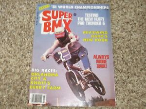 Super BMX Magazine March 1982 Huffy Pro Cook Action Plus Motocross