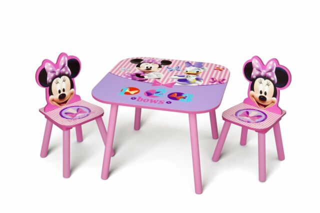 Tremendous Delta Children Kids Table And Chair Set 2 Chairs Included Disney Minnie Mouse Andrewgaddart Wooden Chair Designs For Living Room Andrewgaddartcom