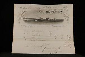 Massachusetts-Boston-1857-Day-Cordage-Scenic-Illustrated-Invoice