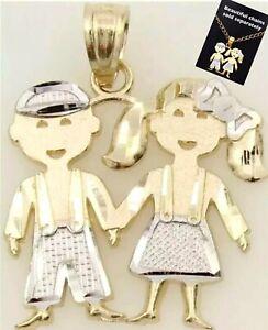 14k Yellow Gold Vintage #1 Boy Friend Diamond Charm Pendant Necklace Gift Joaillerie