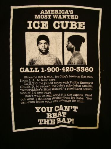 ICE CUbe T shirt americas Most wanted sz S mens Ra
