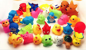 13X Mixed Animals Colorful Soft Rubber Float Squeeze Sound Baby Wash Bath Toy CM
