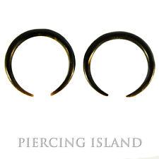Paar ! 1,5mm schwarze Ohrringe Sicheln Horn Tunnel Plug Piercing Design 024