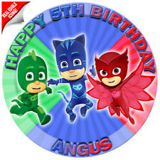 Item 4 PJ Masks Edible Icing Image Cake Topper Personalised Birthday Party Decoration