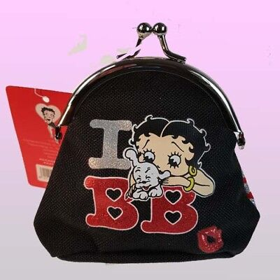 Girls Pink Official Betty Boop Purse Metal Clasp Coin Holder Ladies Wallet