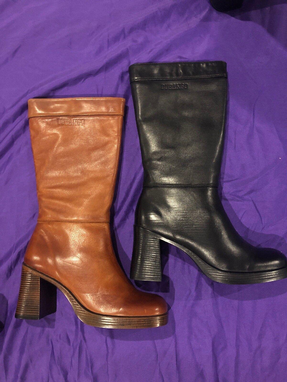 Women's Durango Knee High Zip Up Boots