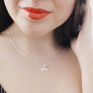 Meerjungfrau-Halskette-mit-Anhaenger-Sterling-Silber-925-Flosse-Fabelwesen-Wal