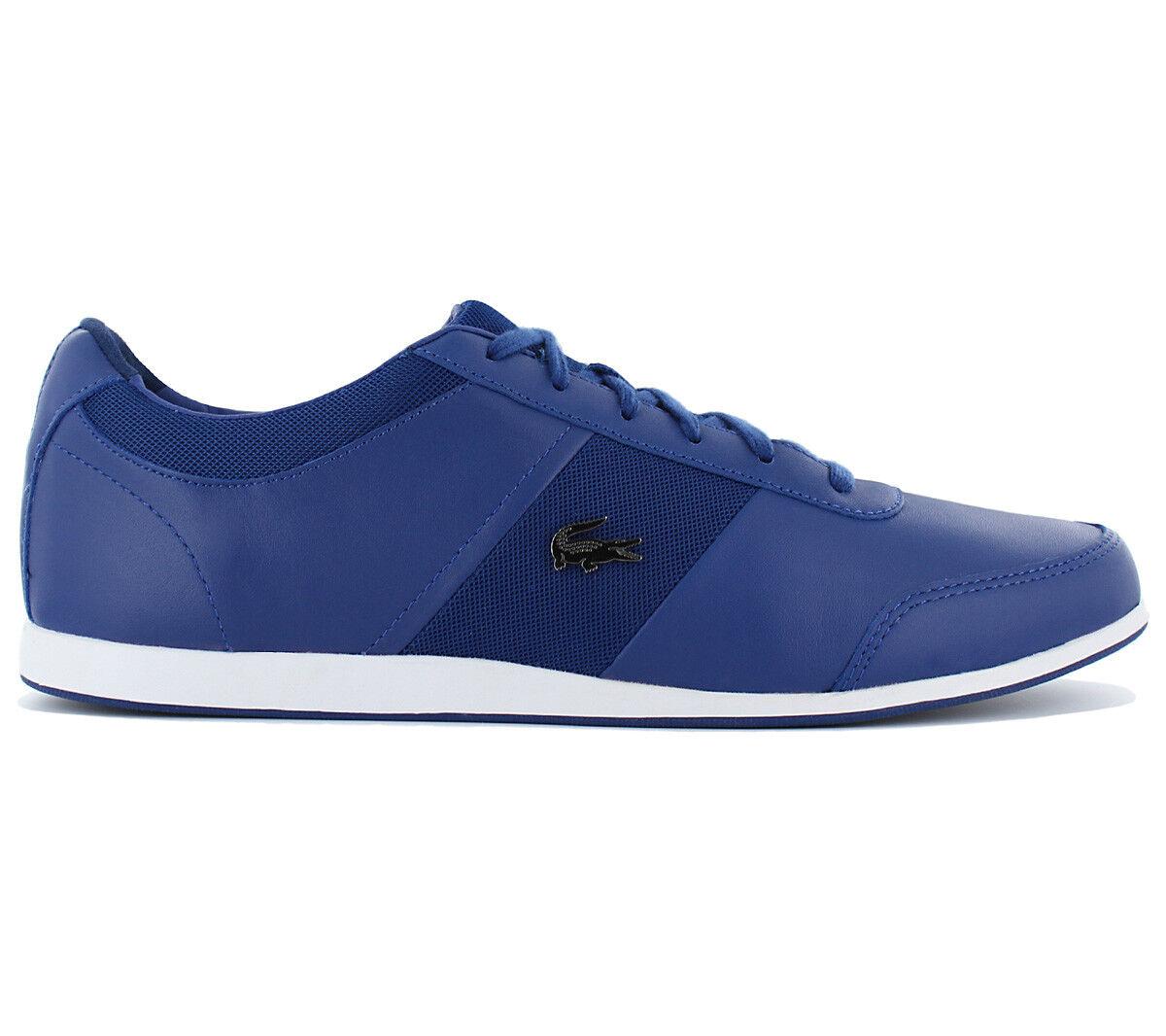 Lacoste Embrun 216 2 Cam Herren Schuhe Freizeit Sneaker Leder Blau NEU SALE