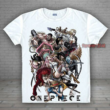 Anime One Piece Luffy/Law/Zoro Casual T-shirt Unisex Tee Tops#S-LT316