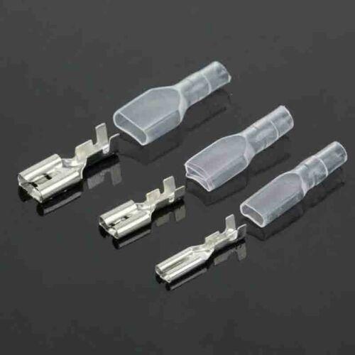 120x Car Crimp Female Spade Terminal Wire Connector Sleeves 2.8//4.8//6.3mm+sheath