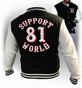 Details about 49 Hells Angels Support 81 Varsity Jacket Black Harley Rocker  Biker M-XXL Jacket- show original title