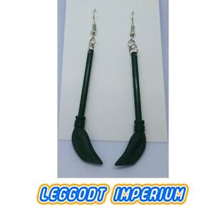 LEGO-Custom-Dangle-Earrings-Harry-Potter-Broom-FREE-POST