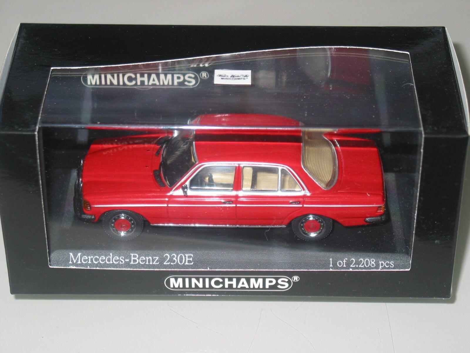 Mercedes W123 230E SALOON RED 1976   1 43 Minichamps  RARE 430032206