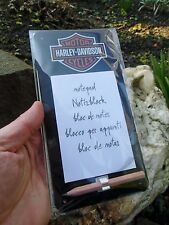 Official HARLEY-DAVIDSON Motorcycles Magnetic Tin Notepad with pen -