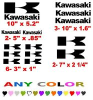 Kawasaki Stickers Decals Any Color Motorcycle Quad Snowmobile