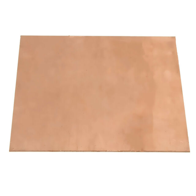 99.9% Pure Copper Cu Metal Sheet Plate 100x100x1mm For Handicraft Aerospace @!