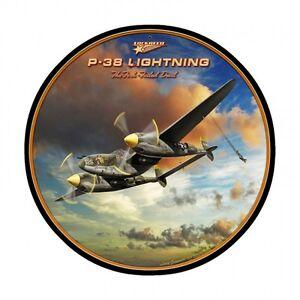 P-38 Lightning Vintage Metal Sign, 28 By 28 (Item number