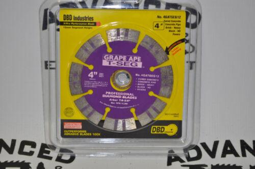 "New 4/"" Grape Ape T-SEG Cured Concrete Diamond Blade"
