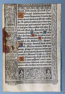 1507 Simon vostre hours Book Book of Hours Parchment Vellum Hardouin Paris