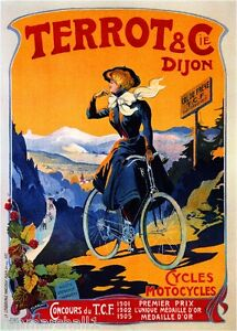Terrot /& Cie Dijon Vintage French Nouveau France Poster Print Art Advertisement