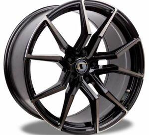 Schmidt-Drago-Noir-Brillant-Jante-9x20-20-Pouces-5x120-65-Diametre-de-Percage