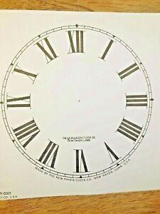5-034-New-Haven-Clock-Paper-Dial-Roman-Numeral-Lot-181