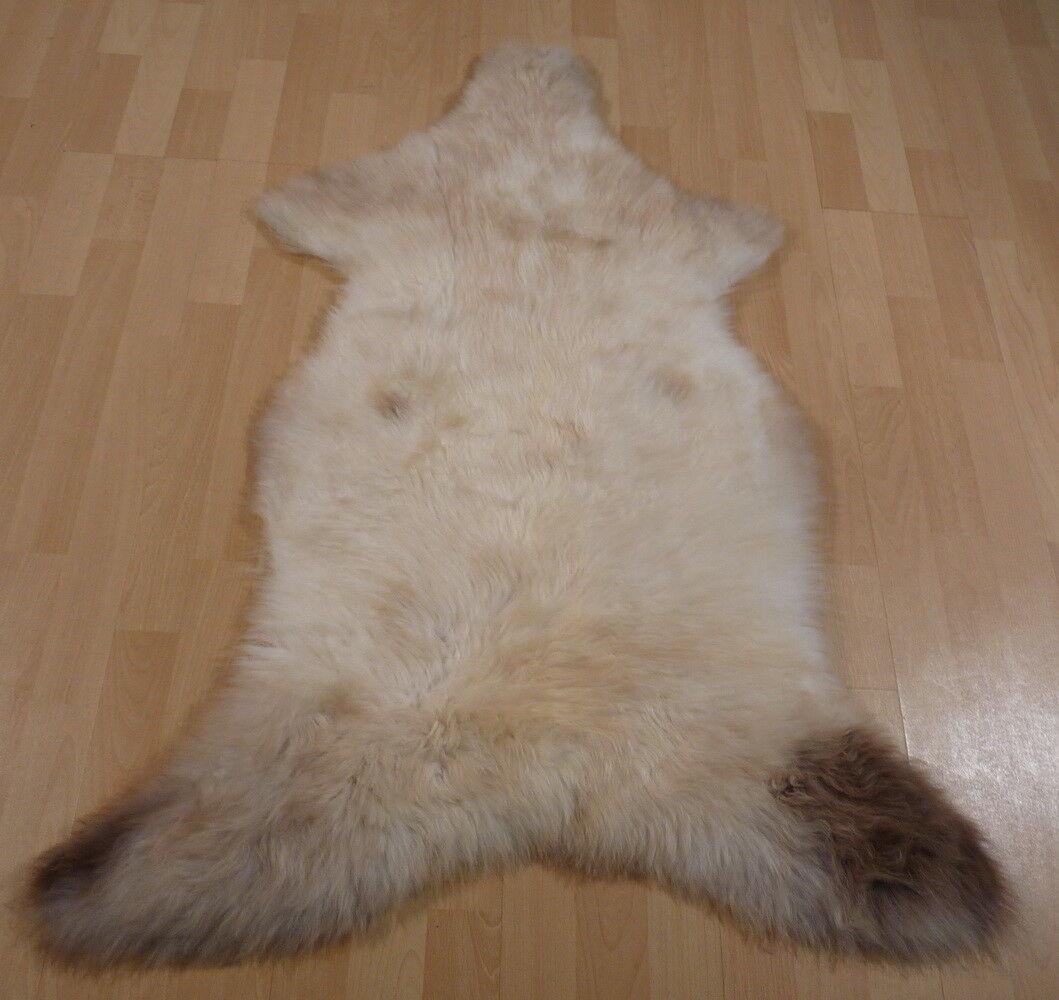 À la fin de l'année, j'ai acheté un rencontré grand groupe et rencontré un environ dix mille ménages. Éco Mouton Peau Lainee synthetique blanc-marron 115x80cm 11707 6c8b70
