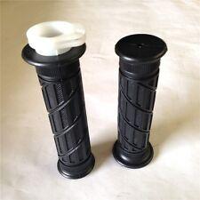 "7/8"" Black Rubber Spiral grid Hand Grips ATV QUAD For KAWASAKI Ninja 250 500 ZX6"