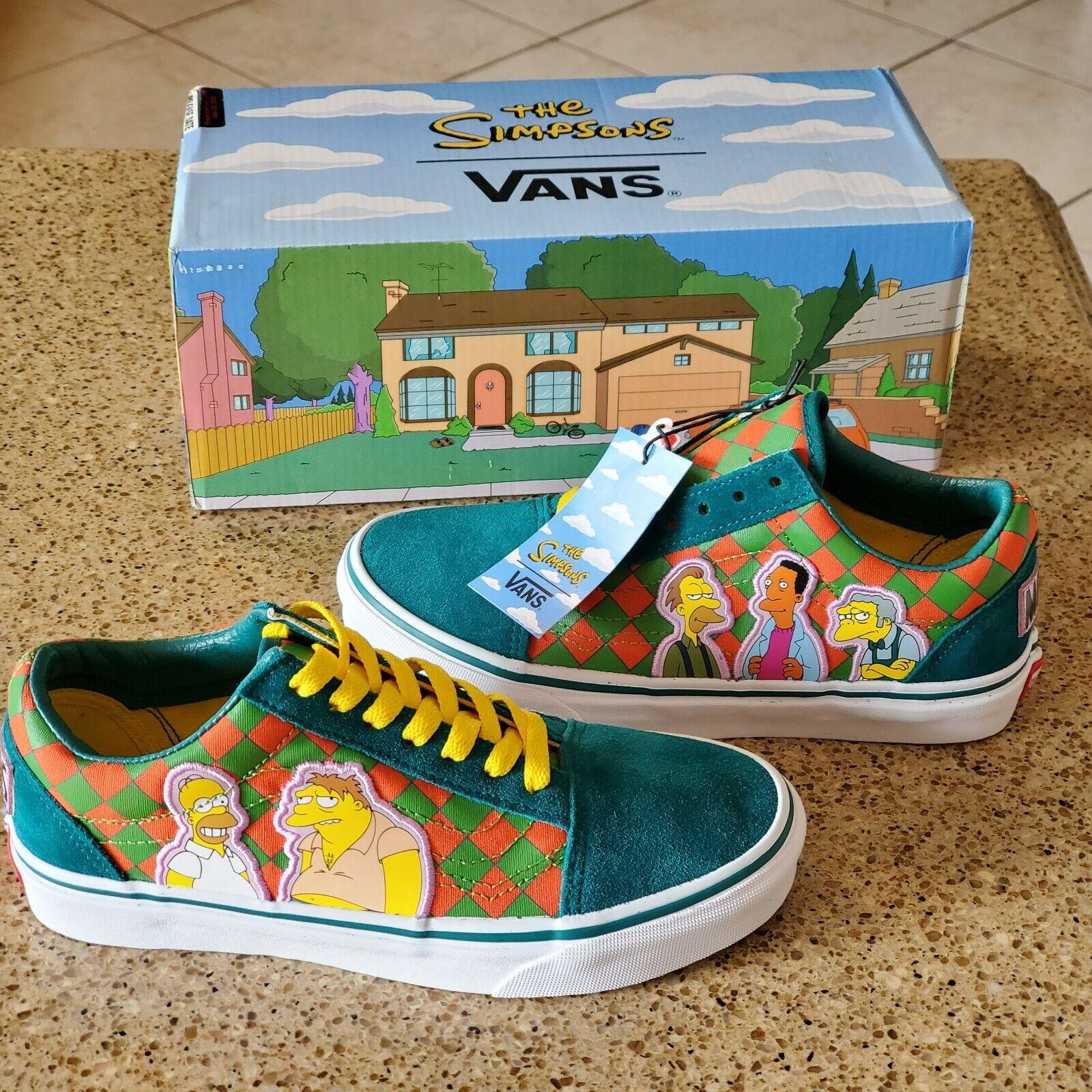 Vans Old Skool The Simpsons Moe's Tavern Sneakers Boys 3.5 Women 5 VN0A4BV521L