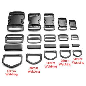 20-50mm Plastic Buckle Slider Adjustable Curved Side Release Webbing Clasp Craft