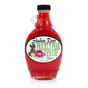 Shadow River Gourmet Prickly Pear Syrup From Real Cactus Fruit Juice, 10 oz Jar