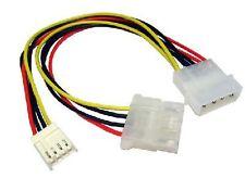 "5.25 "" 4 Pin Molex de 3.5"" unidad de disquete & Molex Poder Splitter Adaptador Cable"