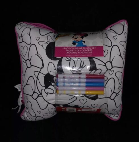 Crayola Disney Minnie Mouse 2 Pack Set Pillows Cushions 10 Markers Colour Gift