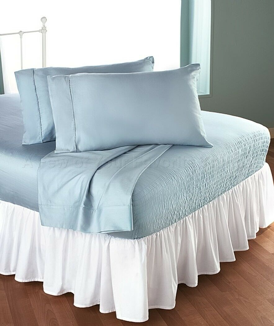 blueeeee King Size Bed Tite Sure-To-Fit Sheet Pillowscase Set Bedroom Decor 4-Pc