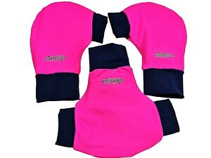 Ruderhandschuhe pink/dunkelblau mit Aufdruck, Rudern, Rowing, Poggies Set