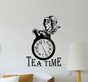 Image Is Loading Tea Time Mad Hatter Wall Decal Alice In
