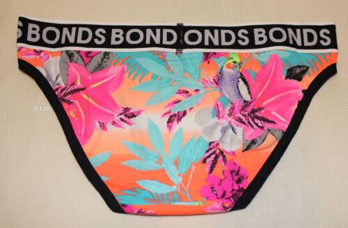 Bonds Ladies JER Multi Coloured Print Boyfriend Bikini Brief Size 10 New