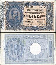 Biglietto di Stato da 10 Lire 29/7/1918 Giu. Dell'Ara - Porena SPL-FDS