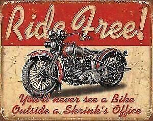 Biker Ride Free Metal Sign (New) Calgary Alberta Preview