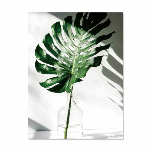 Nordic Watercolor Plant Palm Leaf Canvas Paint Art Poster Home Wall DIY Picture