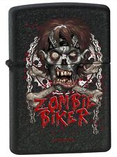 Zippo 12736 zombie biker black crackle Lighter