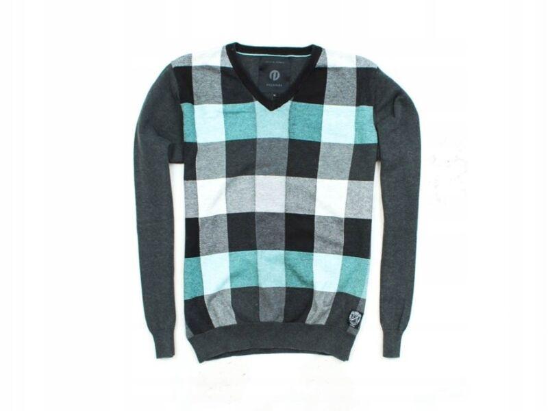*n Jack Jones Mens Sweather V-neck Checks Size M Zu Verkaufen