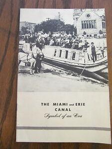 Vintage-Original-miami-and-erie-canal-History-booklet-Dayton-Ohio-Carillon-Park