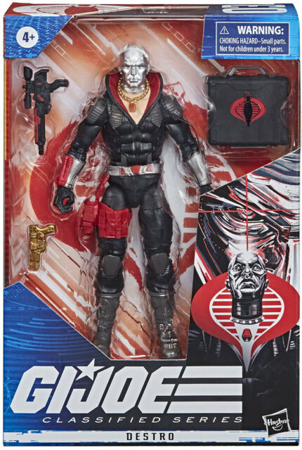 "G.I. GI Joe 6"" Action Figure Classified Series Wave 1 2020 Destro IN STOCK"